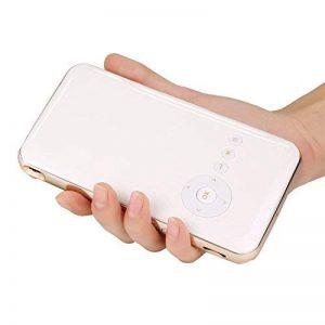 Stoga GM60 - Mini-projecteur portable à LED 1080p HD avec entrée USB, SD et HDMI (blanc/jaune) DLP de la marque Stoga image 0 produit