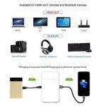 Stoga GM60 - Mini-projecteur portable à LED 1080p HD avec entrée USB, SD et HDMI (blanc/jaune) DLP de la marque Stoga image 3 produit