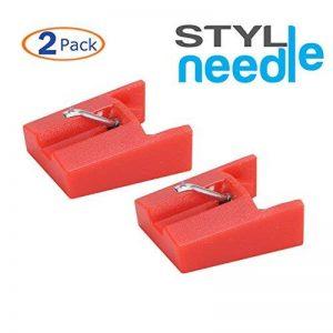 Stylineedle Aiguille Diamant de rechange pour phonographe lecteur enregistreur – 2 pack - Pour ION ICT04RS et Crosley NP4 de la marque Stylineedle image 0 produit