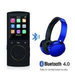 SUNNZO Lecteur de Musique Numérique MP3 Bluetooth 16 GB avec 50 Heures de Lecture,une Capacité Allant Jusqu'à 64 GB, la HiFi, les Fonctions Livre Audio et Radio FM Disponibles, avec la Fonction Signet de la marque SUNNZO image 3 produit