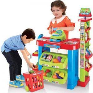 supermarché Playset Stand de nourriture enfants Jeu de rôle de cuisine Ensemble de jeu de Noël idéal cadeau de Noël NEUF de la marque Delex® image 0 produit