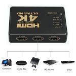 Switch HDMI, GANA HDMI Splitter   Sélecteur HDMI 5 Entrées 1 Sortie 1080P 3D Adaptateur HDMI Splitter HDMI Commutateur avec Télécommande IR pour PS3 Xbox 360 Lecteur DVD HDTV Projecteur Camcorder HTPC Tablette de la marque GANA image 4 produit