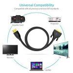 Syncwire Câble Adaptateur HDMI vers DVI 2m Bidirectionnel Transmet, Haut Débit, Cordon Adaptateur DVI-D vers HDMI pour Xbox 360, PS4, PS3, Apple TV, Roku, HDTV, Plasma, DVD, Vidéoprojecteur - Noir de la marque Syncwire image 3 produit