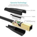 Syncwire Câble Imprimante USB 2M USB 2.0 Câble Scanner d'Imprimante USB A vers USB B Mâle à Mâle Câble Printer pour HP, Canon, Dell, Lexmark, Epson, Xerox, Samsung et Autres – Noir de la marque Syncwire image 4 produit