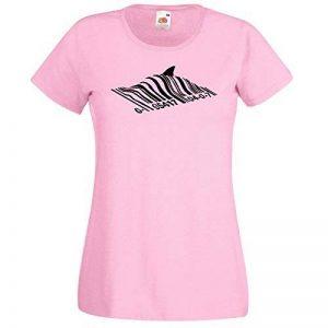 T-shirt femmes avec Bansky Street Art Conception De Graffiti / Fruit Of The Loom Super Premium / Code À Barres Shark / Pêcher En Vertu à + Gratuit Au Hasard Cadeau Décalque de la marque AnOL image 0 produit