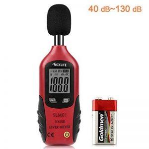 Tacklife Portable bruit de mesure Digital Sound Niveau Mètre 30~ 130dBA, max/min veille, écran LCD rétroéclairé, pile 9V incluse de la marque Tacklife image 0 produit