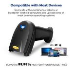 TaoTronics Lecteur Code Barre Bluetooth sans Fil & Câble USB Portable Processeur 32-bit – Compatible Windows Mac OS Android 4.0+ iOS (200 Scans/Sec) de la marque TaoTronics image 3 produit
