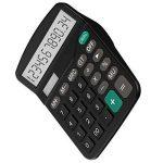 Tech Traders® calculatrice, calculatrice de bureau 12chiffres Grand écran électronique calculatrice solaire et pile AA (non incluse) double alimentation (Noir) de la marque Tech Traders image 1 produit