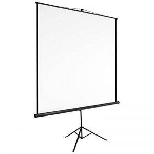 TecTake Écran de projection avec support trépied home cinéma vidéo projecteur 16:9 4:3 HD TV - diverses tailles au choix - (160x90cm | No. 402513) de la marque TecTake image 0 produit