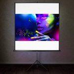 TecTake Écran de projection avec support trépied home cinéma vidéo projecteur 16:9 4:3 HD TV - diverses tailles au choix - (160x90cm | No. 402513) de la marque TecTake image 1 produit