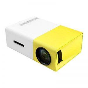 Tecwizz Projecteur de Poche–LED Mini Vidéoprojecteur Compatible avec Les Smartphones, PC, Ordinateur Portable pour Grand écran de visualisation, HDMI, USB, Carte TF–Best Gadget, pour Enfants de la marque Tecwizz image 0 produit