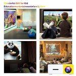 Tecwizz Projecteur de Poche–LED Mini Vidéoprojecteur Compatible avec Les Smartphones, PC, Ordinateur Portable pour Grand écran de visualisation, HDMI, USB, Carte TF–Best Gadget, pour Enfants de la marque Tecwizz image 3 produit