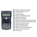 Teepao calculatrice Scientifique–Best calculatrice financière ingénierie calculatrice avancée calculatrice Scientifique collège étudiant calculatrice avec écran LCD 2lignes écran et coque de protection de la marque Teepao image 2 produit