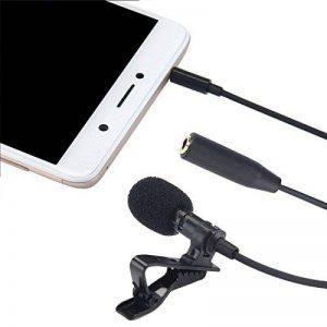 Teepao Microphone cravate avec système de clip facile sur, micro à condensateur omnidirectionnel professionnel Mic revers pour iPhone iPad iPod Android Mac PC de la marque Teepao image 0 produit