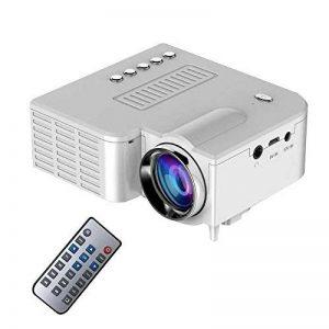 Teepao Mini Projecteur LED, 2018 Mis à Niveau Deeplee Portable Multimédia Home Cinéma Vidéoprojecteur avec USB/SD/AV/HDMI Support PC U-Stick Projecteur de Poche avec Télécommande - Blanc de la marque Teepao image 0 produit