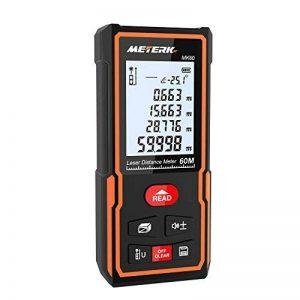 Télémètre laser numérique 60M Meterk Sauvegarder les données Avec la livraison de la batterie MK60 Mini-télémètre portable de la marque Meterk image 0 produit