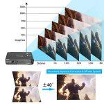 """Tenswall Vidéoprojecteur, 3800 Lumens Mini DLP Projecteur 1280x800 Soutien 1080P, 4K, DLPLink3D, 12000:1, Max300"""" Cinéma Maison avec Android 4.4 OS Double Bande Wi-Fi HDMI USB AV AirPlay Bluetooth pour Tablette de Téléphone Portable de Présentation de l image 4 produit"""