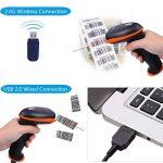 Tera Lecteurs de codes barres, Scanner de Code à Barres sans fil 2,4GHz, Scan Automatique Douchette USB Câble Support mains libres de la marque Tera image 4 produit