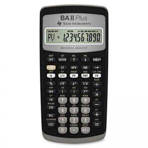 Texas Instruments BA II PlusCalculatrice de poche, financière, noire, à boutons, à piles. de la marque Texas Instruments image 0 produit