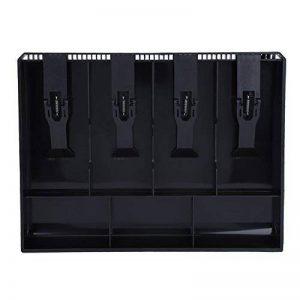 Tiroir-caissier Registre Insertion Plateau Remplacement Plastique(4 compartiments pour Factures, 3 compartiments pour Monnaies) Boîte de rangement de l'argent 12,6 x 9,6 x 1,4inch(Noir) de la marque Hilitand image 0 produit