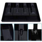 Tiroir-caissier Registre Insertion Plateau Remplacement Plastique(4 compartiments pour Factures, 3 compartiments pour Monnaies) Boîte de rangement de l'argent 12,6 x 9,6 x 1,4inch(Noir) de la marque Hilitand image 3 produit