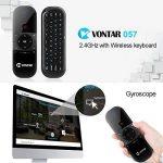 Télécommande Air Mouse, Vontar 2,4GHz Mini clavier sans fil avec gyro Mouse Motion Sensing Poignée de jeu télécommande pour Android TV Box/ordinateur portable/PC/Vidéoprojecteur/HTPC/IPTV/Media Player de la marque VONTAR image 1 produit