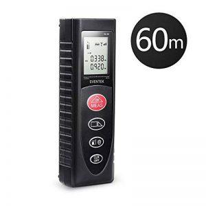 Télémètre Laser Numérique Portable de Precision, Eventek Metre Laser Mesure de Distance Professionnel 60m Max Avec LCD Rétro-éclairage de la marque Eventek image 0 produit