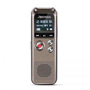 TNP Digital Voice Recorder–Enregistrement de son audio dictaphone intégré à condensateur stéréo Microphones et haut-parleurs avec 8Go de mémoire Mini Portable son, Réunion, interview, salle de classe, Amphithéâtres, lecteur MP3 de la marque TNP Product image 0 produit