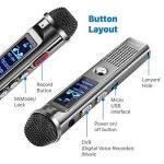 TNP Digital Voice Recorder–Enregistreur audio portable 8Go dictaphone MP3Player rechargeable avec port USB, activation vocale, Réduction du bruit ambiant pour l'enregistrement Amphithéâtres, interview et de réunion de la marque TNP Products image 2 produit