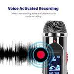 TNP Digital Voice Recorder–Enregistreur audio portable 8Go dictaphone MP3Player rechargeable avec port USB, activation vocale, Réduction du bruit ambiant pour l'enregistrement Amphithéâtres, interview et de réunion de la marque TNP Products image 3 produit