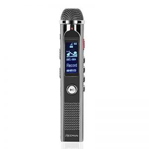 TNP Digital Voice Recorder – Enregistreur audio portable 8 Go dictaphone MP3 Player rechargeable avec port USB, activation vocale, Réduction du bruit ambiant pour l'enregistrement Amphithéâtres, interview et de réunion de la marque TNP Products image 0 produit
