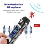 TNP Digital Voice Recorder – Enregistreur audio portable 8 Go dictaphone MP3 Player rechargeable avec port USB, activation vocale, Réduction du bruit ambiant pour l'enregistrement Amphithéâtres, interview et de réunion de la marque TNP Products image 4 produit