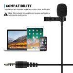 Tonor 3.5mm Audio Jack Microphone à Condensateur Omnidirectionnel Cravate Revers Tie Clip On Mini Mic pour Téléphone, Android, Iphone, Ipad de la marque Tonor image 3 produit