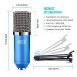 TONOR Microphone à Condensateur XLR à 3,5 mm Podcasting Studio Enregistrement Professionnel Kit Micro avec Alimentation Fantôme 48V et Convertisseur AC EU Bleu de la marque Tonor image 1 produit