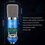 Tonor XRL à 3,5 mm Microphone à condensateur Podcasting Studio Enregistrement pour Ordinateur avec Microphone Réglable Suspension Perche Ciseaux Bras Microphone Kits (Bleu) de la marque Tonor image 1 produit