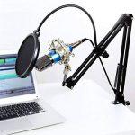 Tonor XRL à 3,5 mm Microphone à condensateur Podcasting Studio Enregistrement pour Ordinateur avec Microphone Réglable Suspension Perche Ciseaux Bras Microphone Kits (Bleu) de la marque Tonor image 4 produit