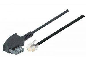 TPFNet Premium Câble modulaire, câble téléphone (TAE N Connecteur à RJ11 Connecteur (6P2C), 2-broches) Destiné au raccordement des téléphones, faxes, répondeurs et modems à une prise de raccordement TAE , noir, 15m de la marque TPFNet image 0 produit