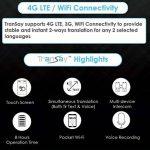 Traducteur oral bidirectionnel en temps réel à IA TranSay MT101B avec Wifi de poche de la marque Transay image 1 produit