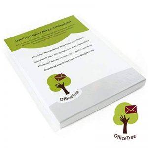 Transparents haute qualité OfficeTree® pour rétroprojecteur - 50 feuilles - Format A4 - Imprimante laser, photocopieur, rétroprojecteur - pour une qualité d'impression et de projection optimale de la marque OfficeTree image 0 produit