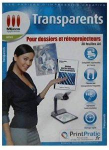 Transparents pour dossiers et rétroprojecteurs - Lot de 20 feuilles A4 de la marque Micro Application image 0 produit