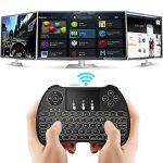 Tripsky H9 Mini clavier sans fil rétroéclairé, à main levée avec Touchpad souris à distance pour TV BOX pour Android, Windows PC, HTPC, IPTV, Raspberry Pi, Xbox 360, PS3, PS4 (Noir) de la marque Tripsky image 1 produit