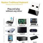 Tripsky H9 Mini clavier sans fil rétroéclairé, à main levée avec Touchpad souris à distance pour TV BOX pour Android, Windows PC, HTPC, IPTV, Raspberry Pi, Xbox 360, PS3, PS4 (Noir) de la marque Tripsky image 4 produit