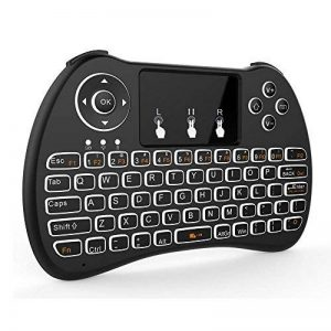 Tripsky H9 Mini clavier sans fil rétroéclairé, à main levée avec Touchpad souris à distance pour TV BOX pour Android, Windows PC, HTPC, IPTV, Raspberry Pi, Xbox 360, PS3, PS4 (Noir) de la marque Tripsky image 0 produit