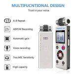 trustin portable rechargeable 8GB Digital Audio Enregistreur vocal professionnel avec double système d'alimentation Dictaphone MP3Player de la marque TRUSTIN image 2 produit