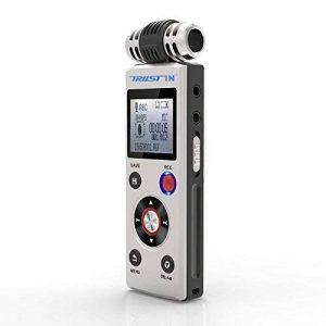 trustin portable rechargeable 8GB Digital Audio Enregistreur vocal professionnel avec double système d'alimentation Dictaphone MP3Player de la marque TRUSTIN image 0 produit