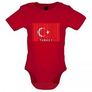 Turquie / Turkey - Drapeau Code Barre - Bébé-Body - 7 Couleur - 0-18 mois de la marque Dressdown image 0 produit