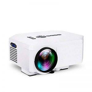 UC30 HD 1080P Projecteur VGA/HDMI/∪ Disque/TF Card/TV/DVD/VCD/Xoox Game/Notebook/Desktop/HD Player/Haut/Appareil Photo Numérique/MP4/MPS Home KTV Mini Projecteur Miniature LED, Blanc de la marque Libina image 0 produit