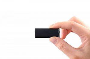 ugetde® espion rechargeable 8GB Digital Audio Enregistreur vocal–Mini Portable Dictaphone avec lecteur MP3et connexion USB de la marque Ugetde image 0 produit