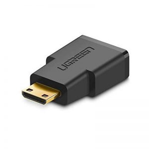 UGREEN 20101 Adaptateur Mini HDMI Mâle vers HDMI Femelle Connecteur Mini HDMI Supporte 4K 3D Full HD, pour Raspberry Pi Zero, Canon EOS 700D, Nikon D5300 et d'autres dispositifs, Plaqué Or de la marque UGREEN image 0 produit
