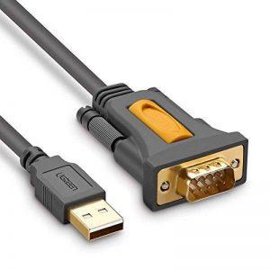 UGREEN Câble Série USB avec Chip PL2303 Câble USB 2.0 vers RS232 DB9 Mâle à Mâle pour Windows 10 8.1 8 7 Vista XP, Mac OS, Linux et Chrome OS, Connectiques Dorées de la marque UGREEN image 0 produit